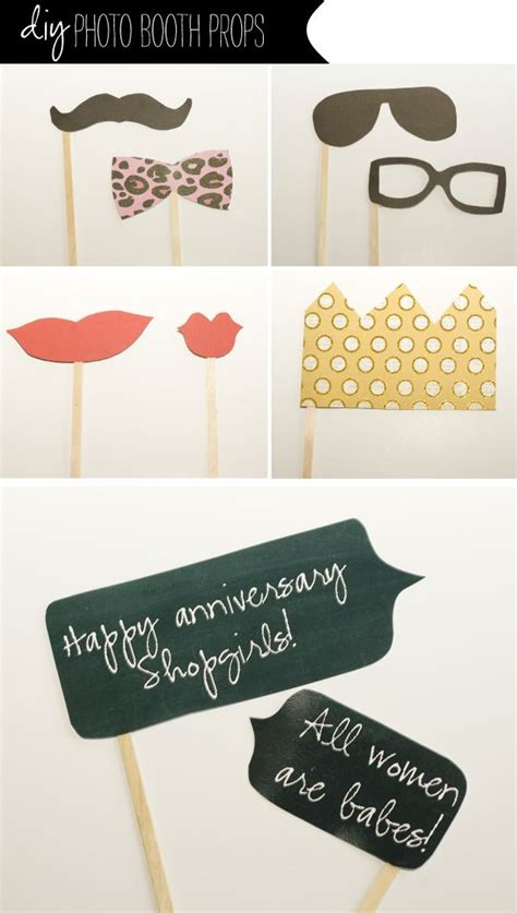 Handmade Photo Booth Props - diy photo booth props