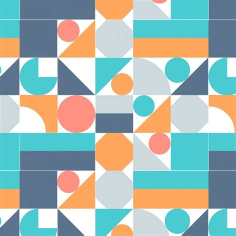 colored shapes background with colored geometric shapes vector free