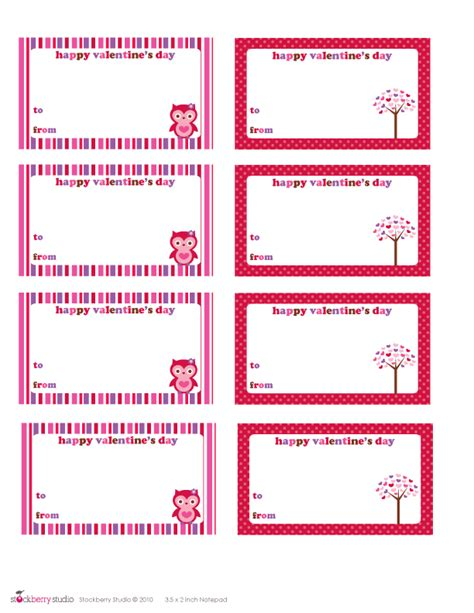 printable valentine gift cards 5 best images of printable customizable blank tags free