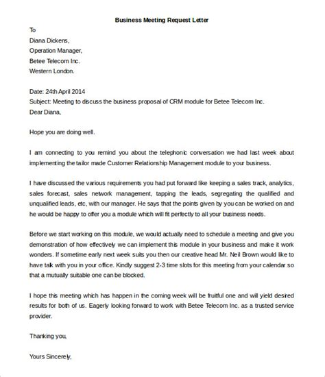 business letter format for meeting 50 business letter template free word pdf documents