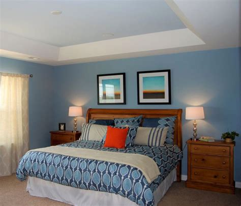small bedroom ceiling design false ceiling designs for bedrooms 9 ideas you will love 17104 | blue and white toned tray ceiling bedroom 2
