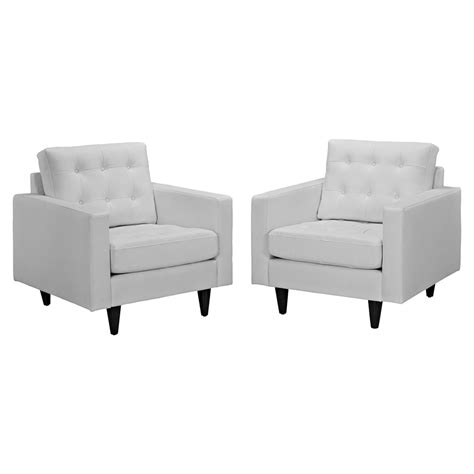 white leather armchair empress button tufted leather armchair white set of 2