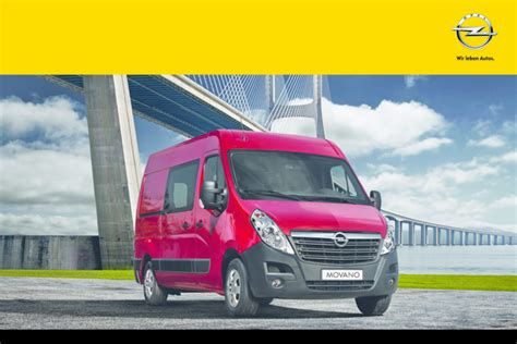 opel movano 2014 opel movano 2014 owners manual pdf
