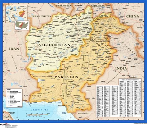 map of af afghanistan pakistan atlas style wall map maps