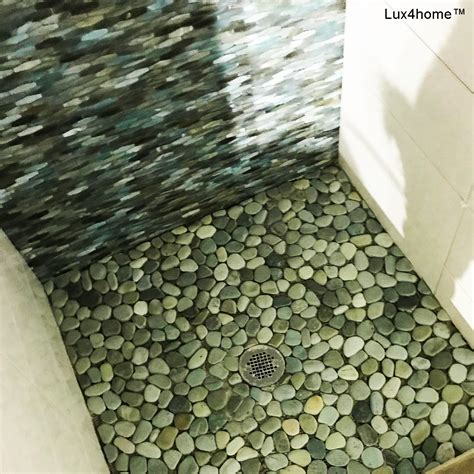 green pebble tiles taipei green  cm luxhomecom
