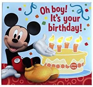 mickey mouse birthday greeting card with lights health personal care