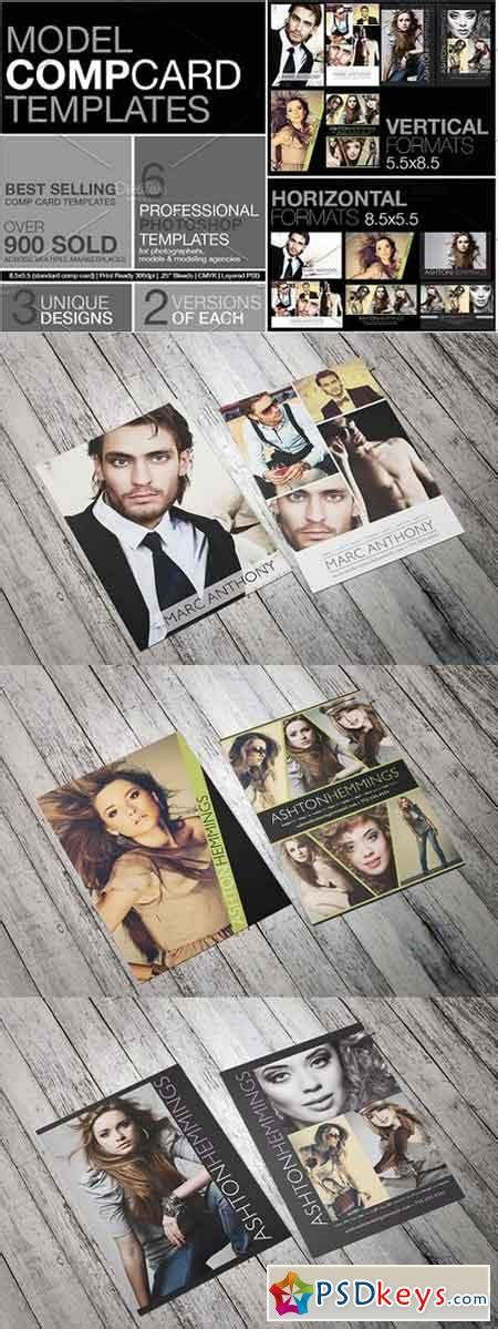 model comp card template kit model comp card kit 1227966 187 free photoshop