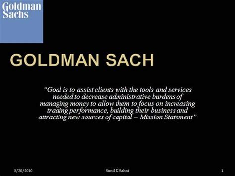 Goldman Sachs Business Card Template by Goldman Sachs Authorstream