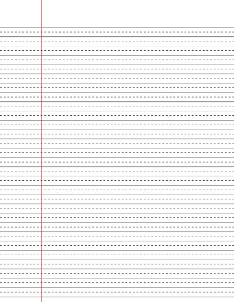 printable wide ruled paper with dotted lines wide ruled lined paper with dashed center guide line