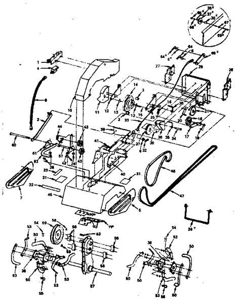 craftsman tiller parts diagram craftsman 21 inch craftsman tiller attachment parts