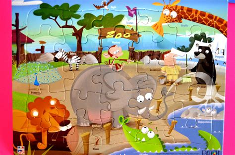 Animal Puzzle zoo animal puzzle names and sounds of animal learning