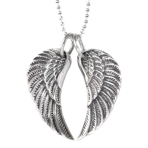 Wings Silver by Medium Silver Wing Necklace By Silver Service Jewellery