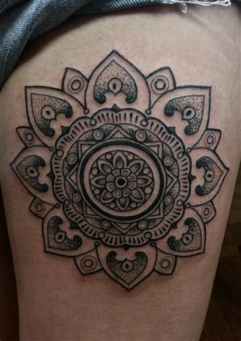 tattoo mandala coxa tatuagem geom 233 trico coxa mandala por anthony ortega