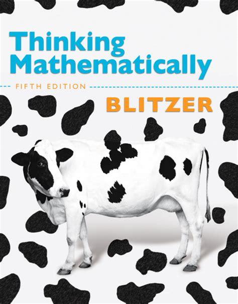 thinking mathematically 6th edition blitzer thinking mathematically