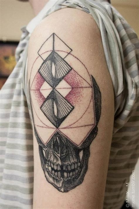 Tattoo Geometric Skull | 100 breathtaking geometric tattoo designs
