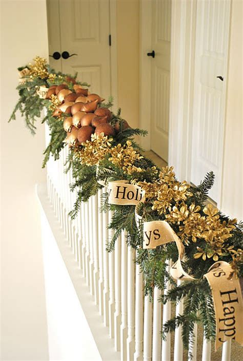 christmas banister garland staircase christmas garland decorations