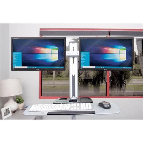 porta monitor da scrivania supporto universale da scrivania per due monitor fino a 27