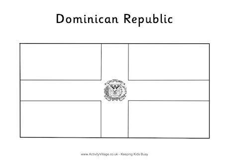 dominican republic flag colouring page