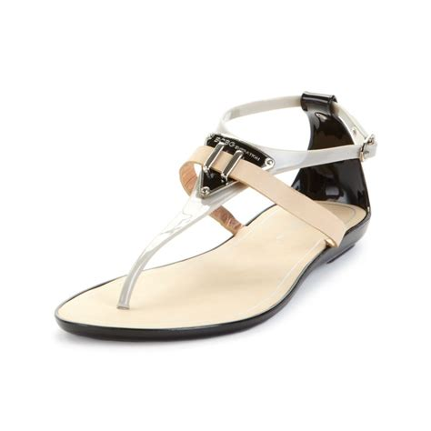 Minised Jelly Shoes Grey lyst bcbgeneration calantha flat jelly sandals in gray