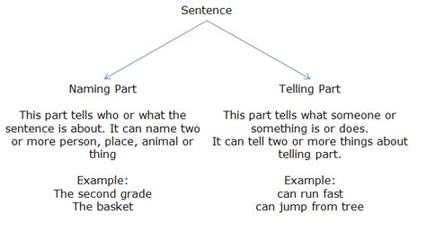 section 20 gbh sentence course english grade 2 topic naming and telling part