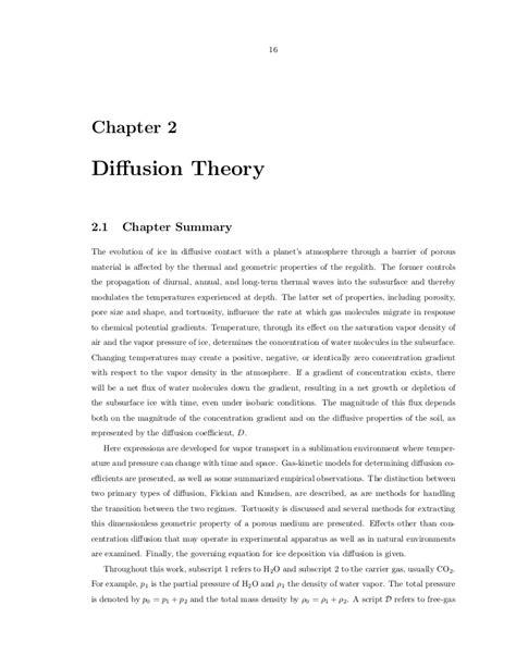 Difusion theory