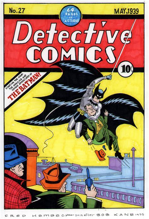 batman detective comics fred hembeck 9 quot x 12 quot color cover redo detective comics 27 1939 batman debut ebay