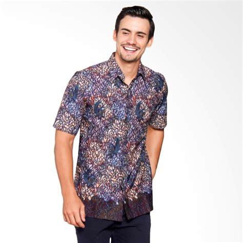 Kemeja Batik Excellent Katun Biru jual batik heritage katun mega mendung ethnic slim fit