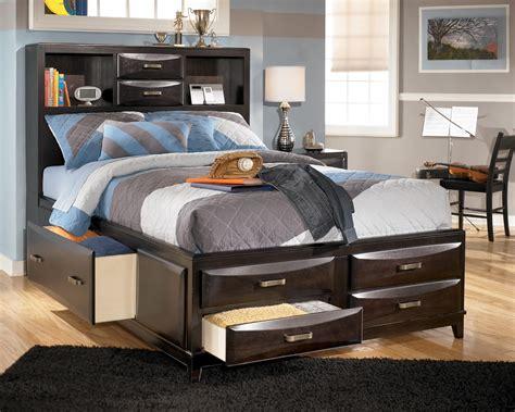 ashley furniture storage bed ashley furniture kira full storage bed olinde s