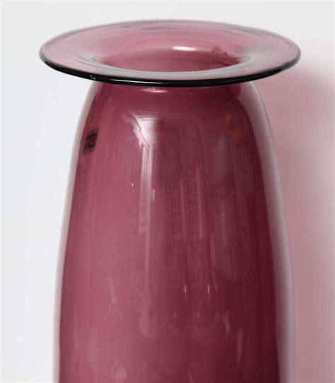 Amethyst Glass Vase amethyst glass vase by blenko at 1stdibs