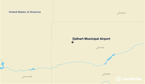 map of dalhart texas dalhart municipal airport dht worldatlas