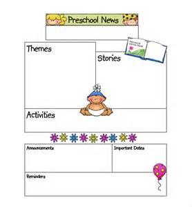 Monthly Preschool Newsletter Template by Preschool Newsletter Template 9 Psd Pdf Documents