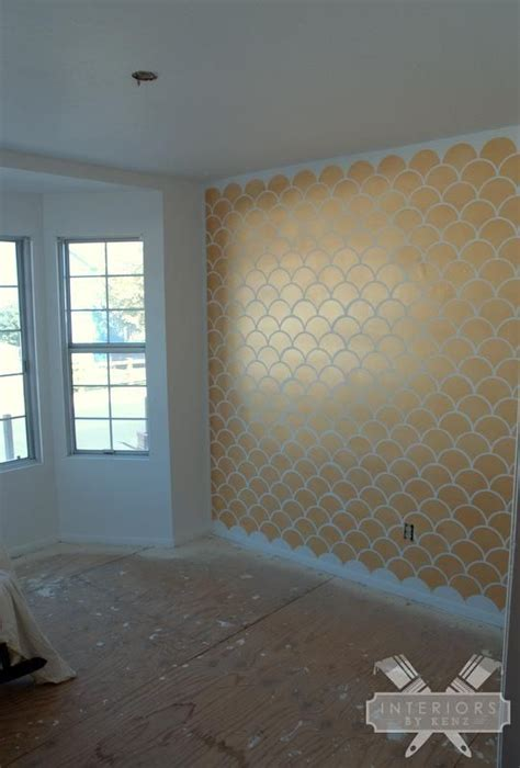 gold accent wall gold scallops accent wall