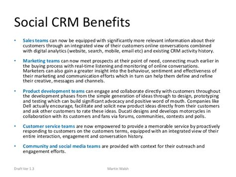Crm Description by Social Crm Definition By Martin Walsh