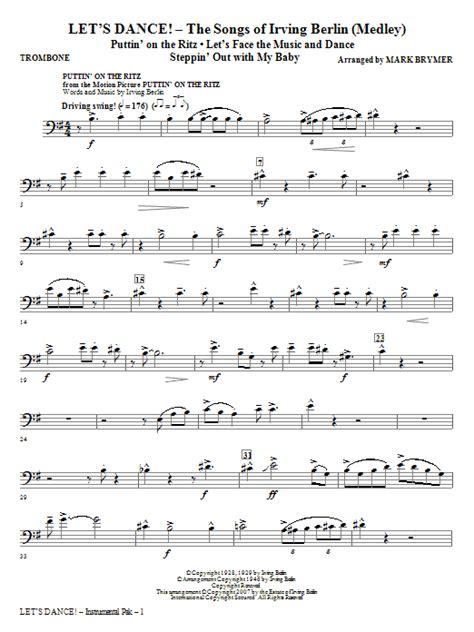 song trombones let s dance the songs of irving berlin medley