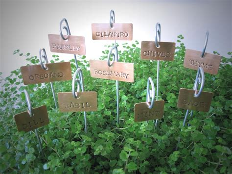Gardening Labels Copper Plant Tags Garden Herb Plant Markers Labels By