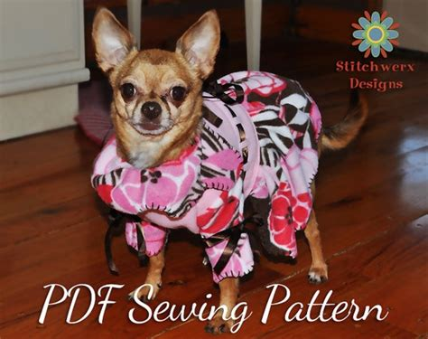 patterns for dog fleece sweaters easy to sew small dog fleece sweater pattern by
