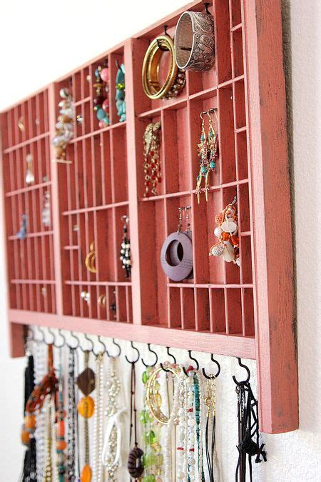 how to make a jewelry organizer how to make a jewelry organizer from a type set tray
