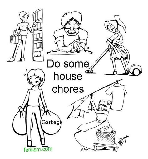 House Chores Coloring Pages | ferilism 011 020 whyllness