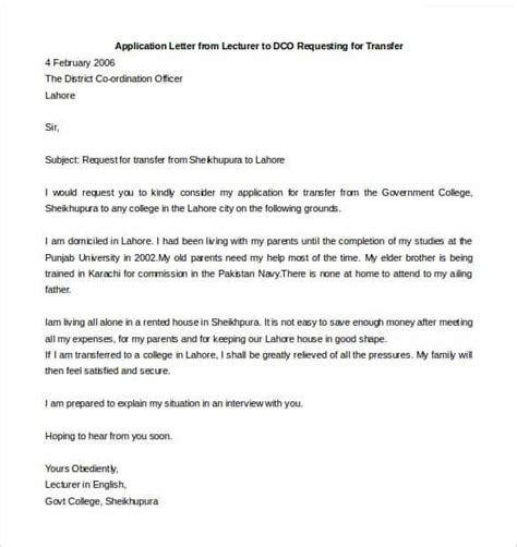 Transfer Application Letter For Teachers 33 Transfer Letter Templates Free Sle Exle Format Free Premium Templates