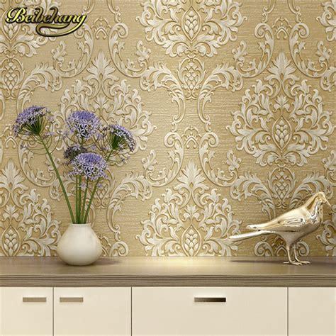 european damask diamond wallpaper 3d stereoscopic modern beibehang european metallic floral damask wallpaper design