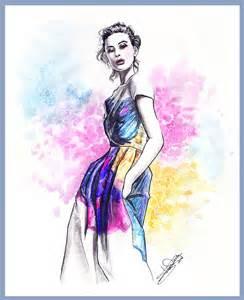 color print fashion illustration tania deviantart