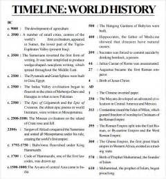 history template word sle history timeline 7 documents in pdf word excel