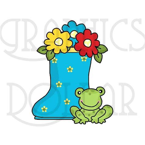 april showers clipart april showers flowers and frogs clip graphics dollar