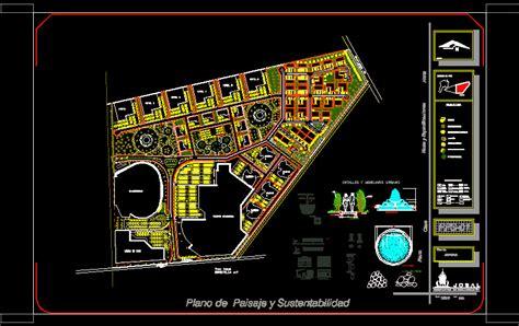 landscape plan  autocad  cad   mb