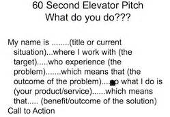 30 Second Elevator Speech Outline by Getting Storied With Your Elevator Speech Pitch