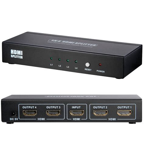 Terbaik Hdmi Splitter 1x4 Port hdmi splitter verteiler 1x2 1x4 1x8 1x16 1080p hd 3d port hdtv highspeed ebay