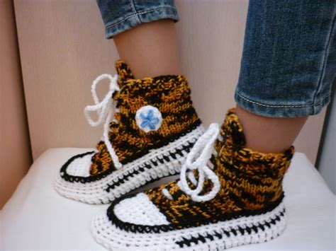knitted converse slippers tiger converse crochet converse slippers crochet converse