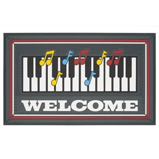 piano desk mat piano happy notes welcome mat at the stand