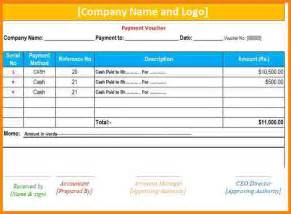 9 payment voucher template excel free download sample