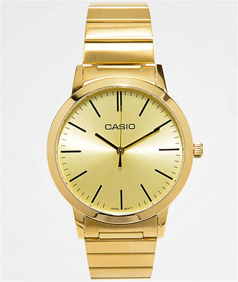 Casio Analog Casio casio vintage all gold analog zumiez